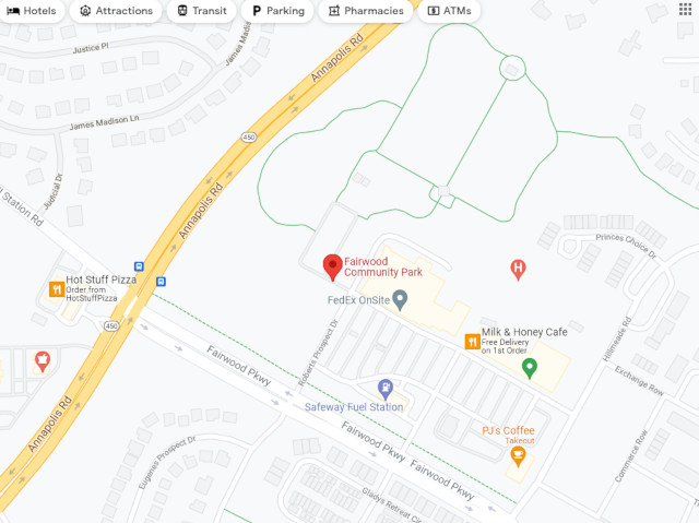 Use Google Maps to find Fairwood Park